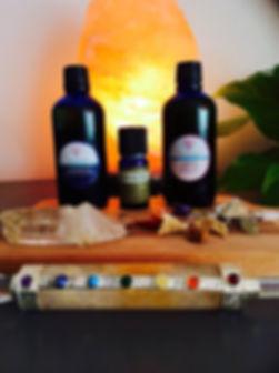 Moontime massage oil, womb massage oil, woman balance massage oil, salt lamps, Mizan Therapy, crystals,