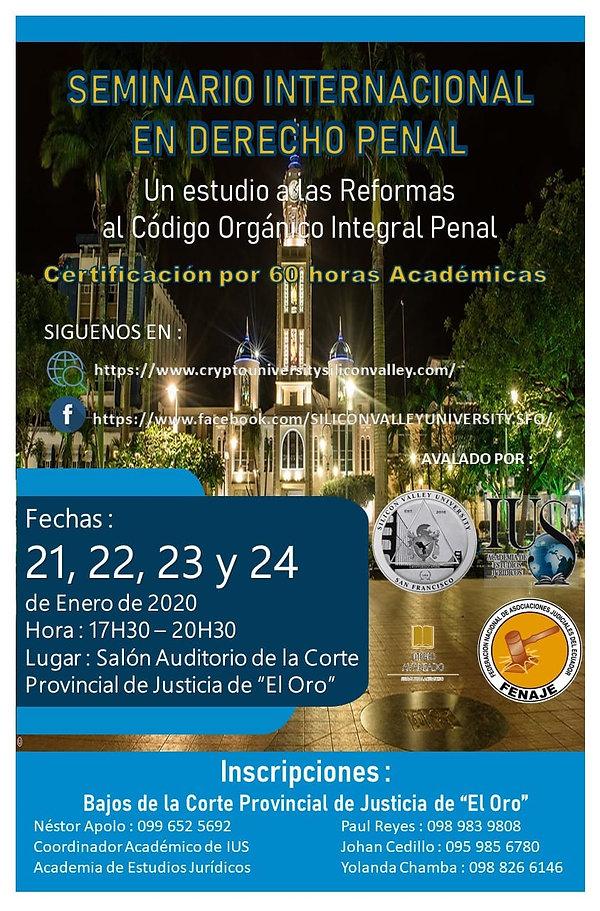 Seminario de Derecho Penal - Prov.Oro Ec