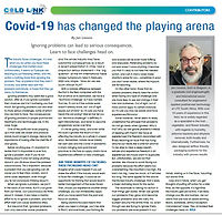 Covid-19 has changed the playing area -