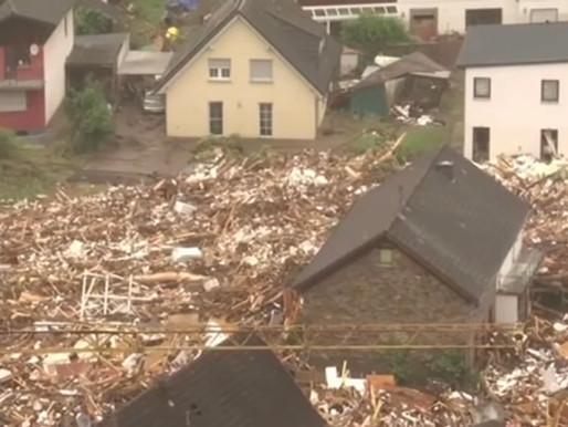 European Flood Death Toll Surpasses 160 People, Damage Extensive