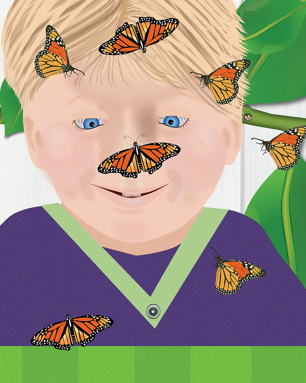 Arnie learns about how caterpillars turn into butterflies.