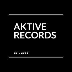 Aktive Records Black Transparent Established Logo