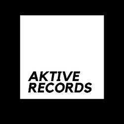Aktive Records White On Black Box Logo