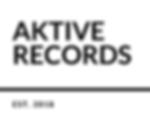 Aktive Records White Transparent Established Logo