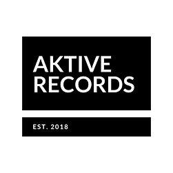 Aktive Records Black On White Established Logo