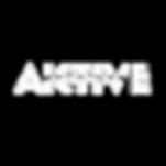 Aktive Records White Transparent Logo