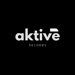 Aktive Records White On Black French Logo