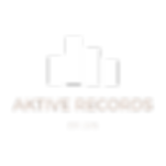 Aktive Records White Transparent Levels Logo