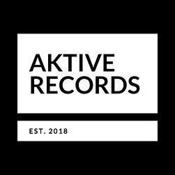 Aktive Records White On Black Established Logo