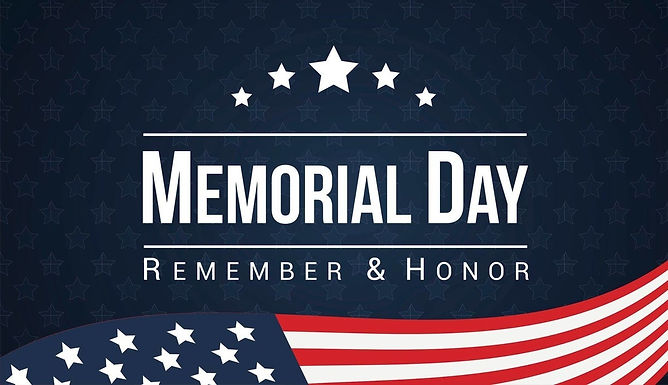 Memorial Day Weekend Holiday (3-Day)