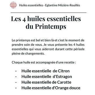 🌱Les 4 huiles essentielles du Printemps