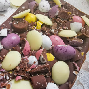 MIni Eggs, Rolos and White Buttons