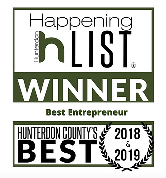 Hunterdon Happening Best Entrepreneur 2018 & 2019