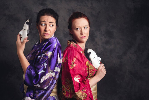We're best friends in real life...honest!  With the brilliant Amanda Wagg; photo by Scott Rylander