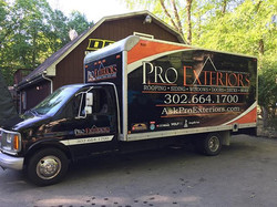 New look for Pro Exteriors with this full box truck wrap
