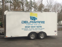 Man these new trailer are clean looking with no rivets! Thanks for the business Delaware Custom Tile