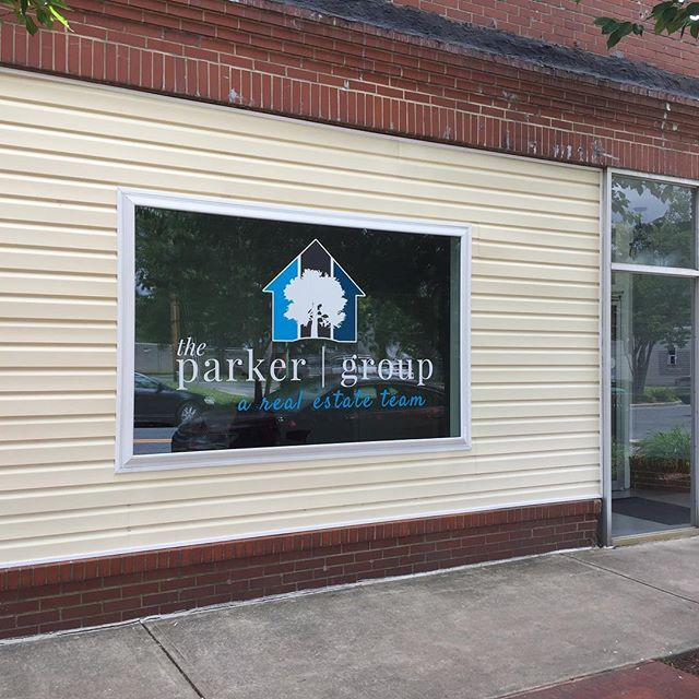 Window graphic for the new Parker Group office. Thanks for the business