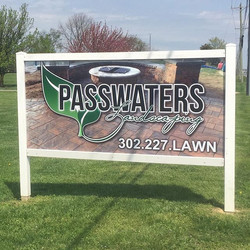 New signs for Passwaters Landscaping