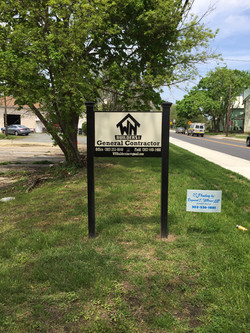 Site sign for WN Builders