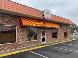 New awning and sign for Laurel Pizzeria - Awning is back lit with LED lighting