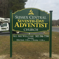New sign for Sussex Central Seventh Day Adventist Church