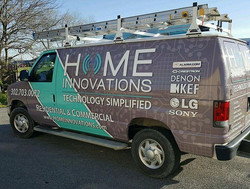 New look for Home Innovations with the full van wrap! #vinyl #vinylwrap #wrap #vehiclewrap #vehicleg