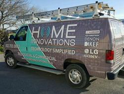 New look for Home Innovations with the full van wrap! #vinyl #vinylwrap #wrap #vehiclewrap #vehicleg