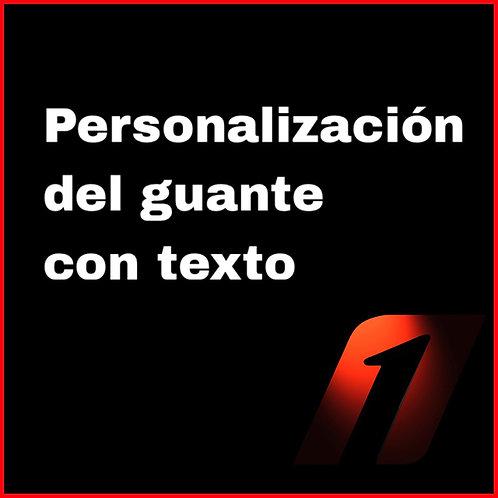 Personalización con texto