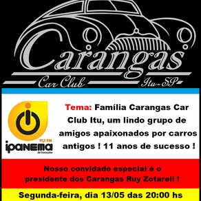Família Carangas Car Club Itu, um lindo grupo de amigos apaixonados por carros antigos! 11 anos