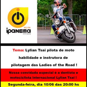 Lylian Tsai pilota de moto habilidade e instrutora de pilotagem das Ladies of the Road