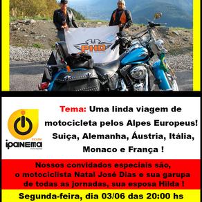 Uma linda viagem de motocicleta pelos Alpes Europeus!