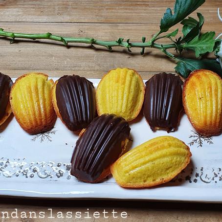 Madeleine nature ou chocolat