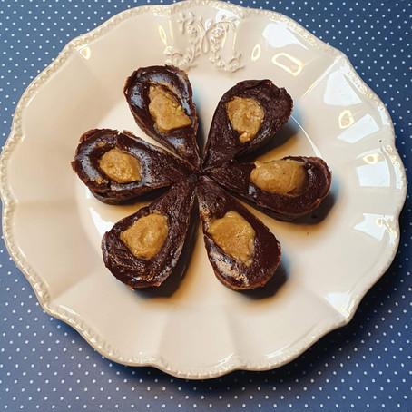 Feuilles de chocolat coeur cacahuète