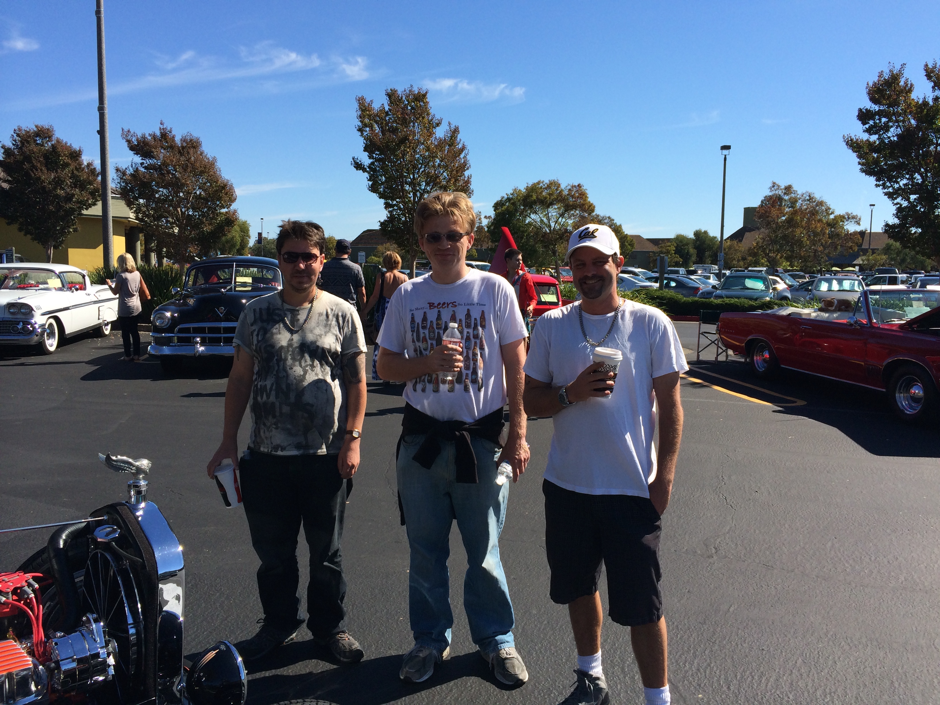 The guys at Greenbrae car show