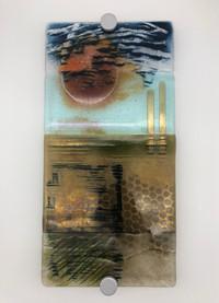'Bronze Landscape' wall panel