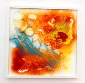'Seascape' glass painting