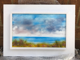 'The Seaside' glass painting
