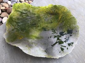 'Tide's Out' pate de verre sculpture