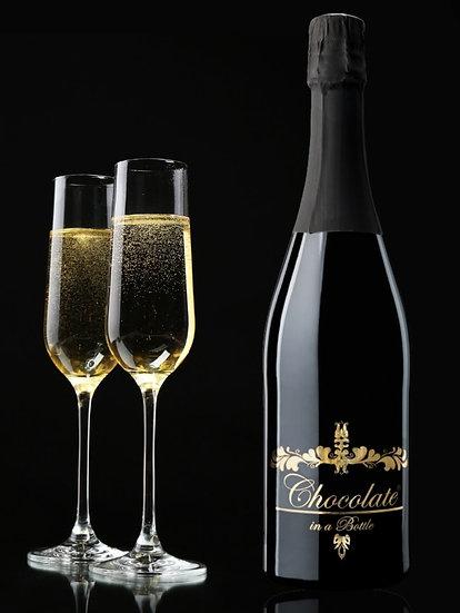 Fles wijn met chocolade - Chocolate in a bottle
