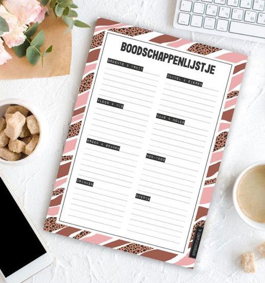 Notitieboekje : Boodschappenlijstje