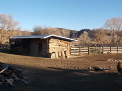 Old Barn at our ranch (new roof)