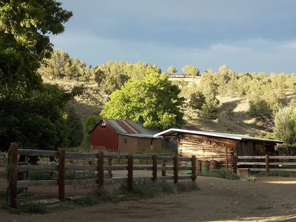 Old buildings on Hestar Ranch