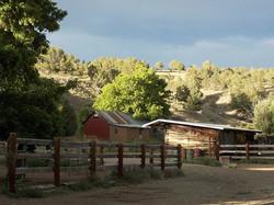 Old buildings on Hestar Ranch
