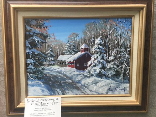 "Keifer Road - (9""x12"") - Framed Original Oil Painting"