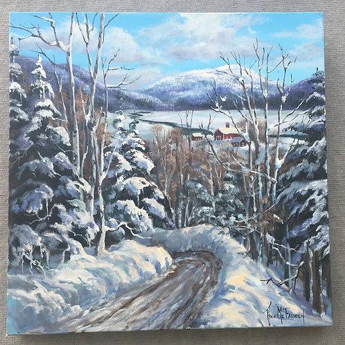 "Snow Banks  - (20""x20"") - Original Oil Painting"