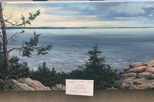 """Lonely Overlook - (12""""x36"""") - Original Oil Painting"""