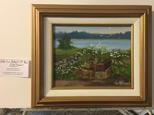 """Kettle Cove, Bailey's Island, ME - (8""""x10"""") - Framed Original Oil Painting"""