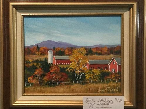 "October on the Farm - (8""x10"") - Framed Original Oil Painting"