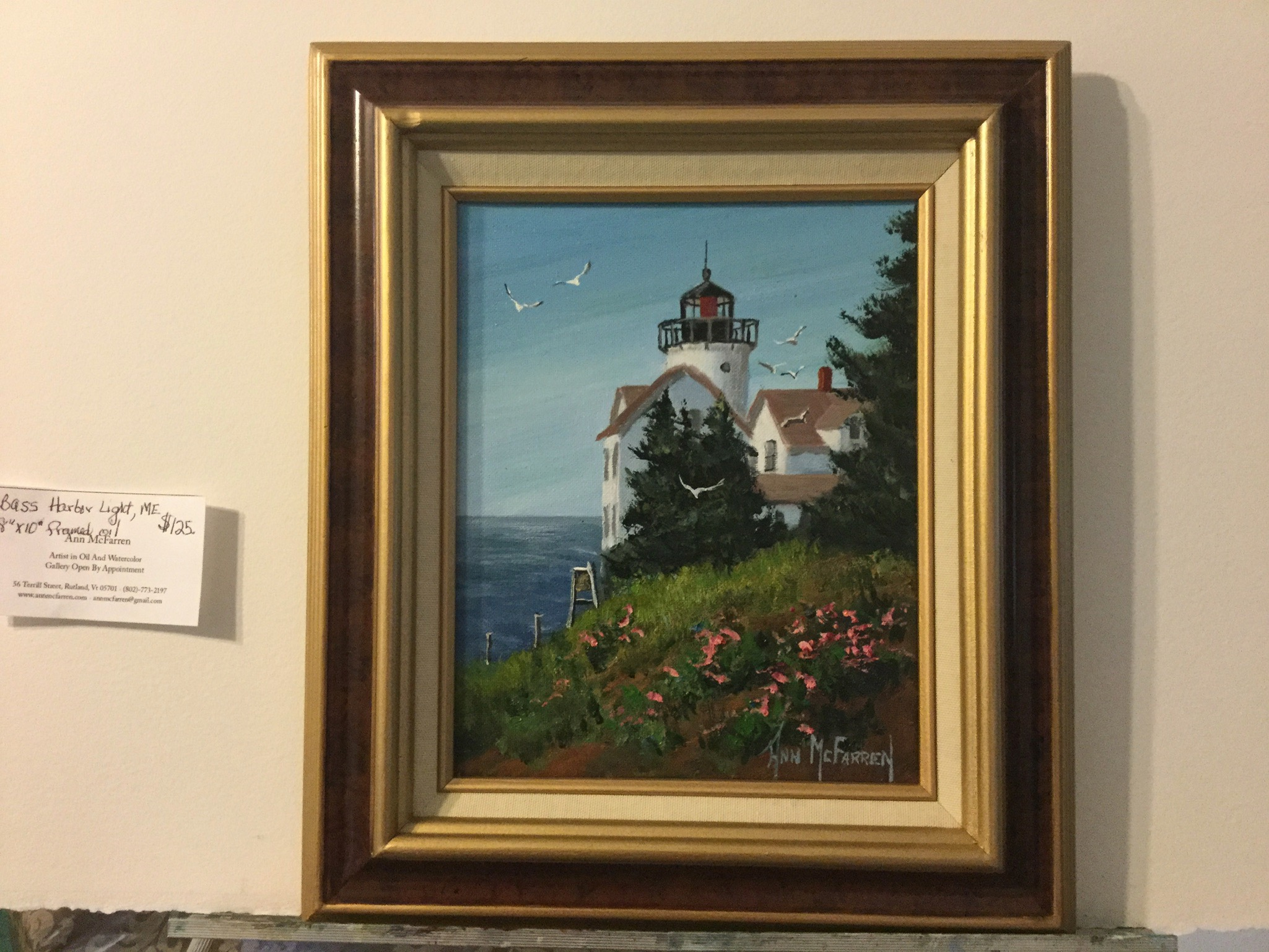 "$125 - Bass Harbor Light - 8""x10"""