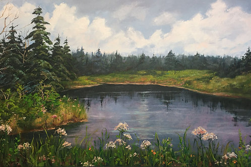 "Springtime -  (24""x48"") - Original Oil Painting"